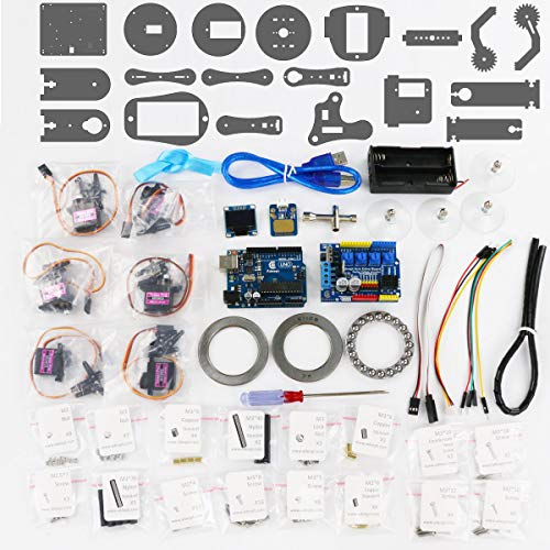 Adeept Arduino Compatible DIY 5-DOF Robotic Arm Kit for Arduino UNO R3 | STEAM Robot Arm Kit with Arduino and Processing Code | with PDF Tutorial via Download Link by Adeept (Image #8)
