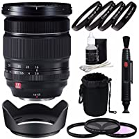Fujifilm XF 16-55mm f/2.8 R LM WR Lens + 77mm 3 Piece Filter Set (UV, CPL, FL) + 77mm +1 +2 +4 +10 Close-Up Macro Filter Set with Pouch Bundle 2
