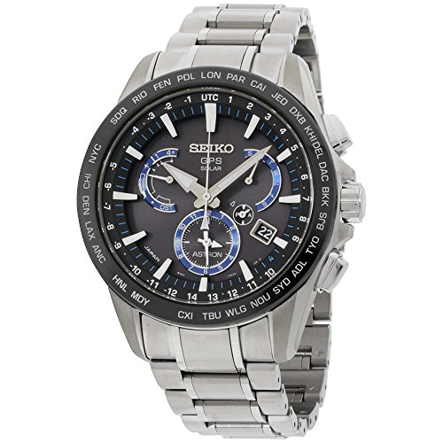Seiko SSE107 Mens ASTRON GPS Solar Dual Time Watch w/ Date