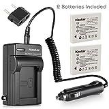 Kastar Battery (X2) & AC Travel Charger for HP LI40 Q6277A Q2232-80005 Photosmart R742 R742v R742xi Digital Cameras