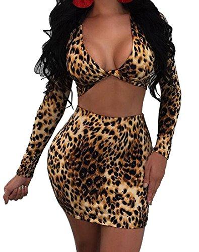 Leopard Print Mini Skirt - 7