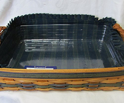Longaberger Collector's Club Small Serving Basket with Fabric Liner& Protector (Long A Berger Baskets)