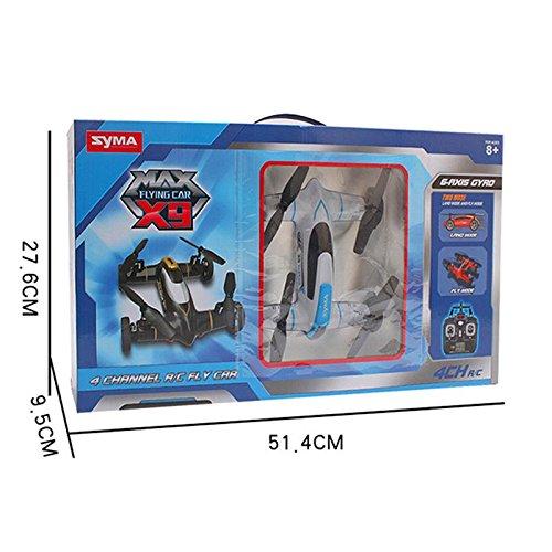 Syma X9 Fly Car 4 Channel 2.4Ghz RC Quadcopter - BLACK