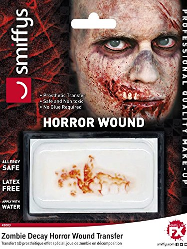 Red Zombie Decay Halloween Horror Wound (Latex Wounds Halloween Uk)