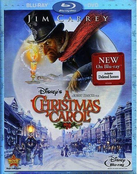 Amazon Com Disney S A Christmas Carol Two Disc Blu Ray Dvd Combo Jim Carrey Robert Zemeckis Movies Tv
