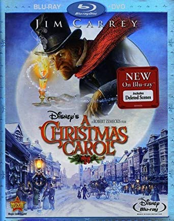 Jim Carrey Christmas Carol.Amazon Com Disney S A Christmas Carol Two Disc Blu Ray Dvd