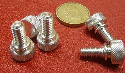 6061 Aluminum Thread Size 1//4-20 Flared-Collar Knurled-Head Thumb Screw