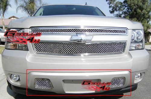 APS Compatible with 2007-2014 Tahoe Avalanche Suburban Bumper Mesh Grille Grill Insert S18-S76467C