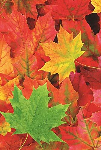 Flag Leaves Fall Garden - Fall Leaf Garden Flag Autumn Yard Decoration 12.5 x 18 Two Sided