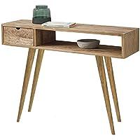 HOGAR24 ES Kronos 100- Mueble Recibidor-Entrada, Diseño Industrial-Vintage
