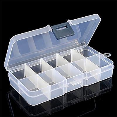 display08 - Caja de almacenaje de plástico transparente con 10 ...
