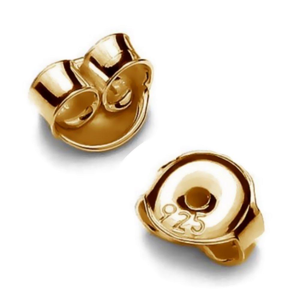 My-Bead 5 Paar Pousetten 5.5mm Gegenst/ück f/ür Ohrstecker 925 Silber 24K doppelt vergoldet Ohrmuttern nickelfrei