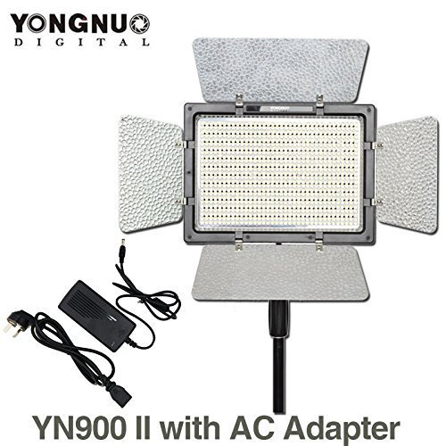 YONGNUO YN900 5500K LED Video Light Panel with AC Power Adapter by Yongnuo