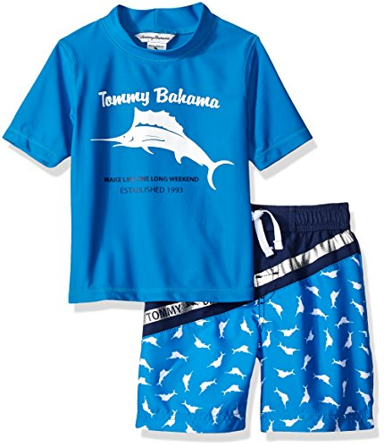 Tommy Bahama Little Boys' Rashguard and Trunks