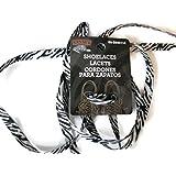 Black & White Shoelaces, 42 in. lacet noir & blanc