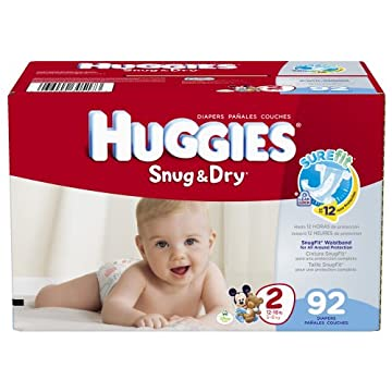 Huggies Snug & Dry Diapers (Size 2, Pack of 96)