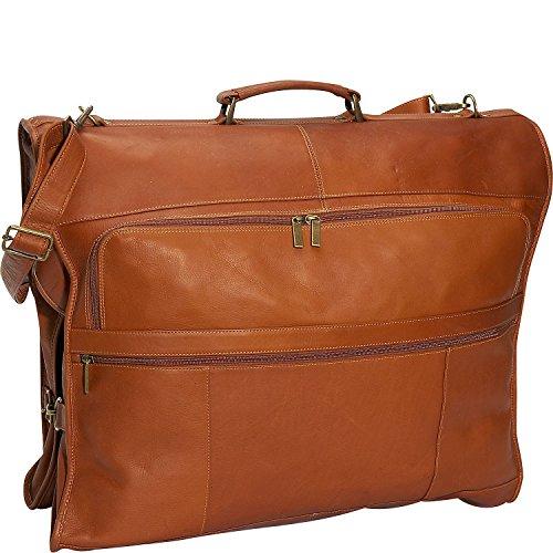 David King 42'' Leather Garment Bag in Tan by David King & Co