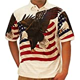 Cotton Traders Allover Patriotic Polo Shirt (XLarge, 6065-401)