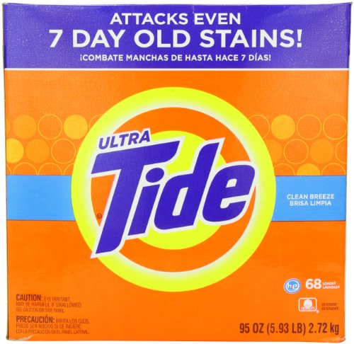 (Tide Ultra He Clean Breeze Scent Powder Laundry Detergent, 68 Loads, 95 oz)