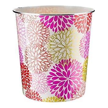 Cestino Leggero da 7,7 Litri Home Plus Design Floreale Bouquet Vintage Multicolore.