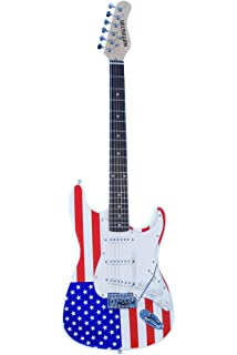 Patriotic American Flag Electric Guitar Red White & Blue Right Handed