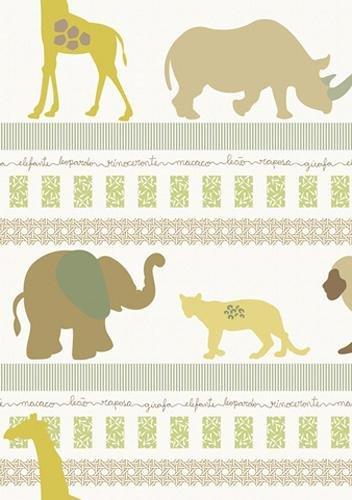 papel de parede bobinex infantario vinilico animais colorido