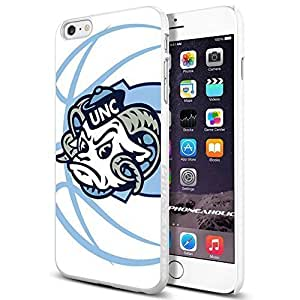 NCAA NC University of North Carolina Tar Heels #9 , , Cool iPhone 6 Plus (6+ , 5.5 Inch) Smartphone Case Cover Collector iphone TPU Rubber Case White [By PhoneAholic]