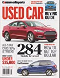 Consumer Reports Used Car Buying Guide Magazine June 2016