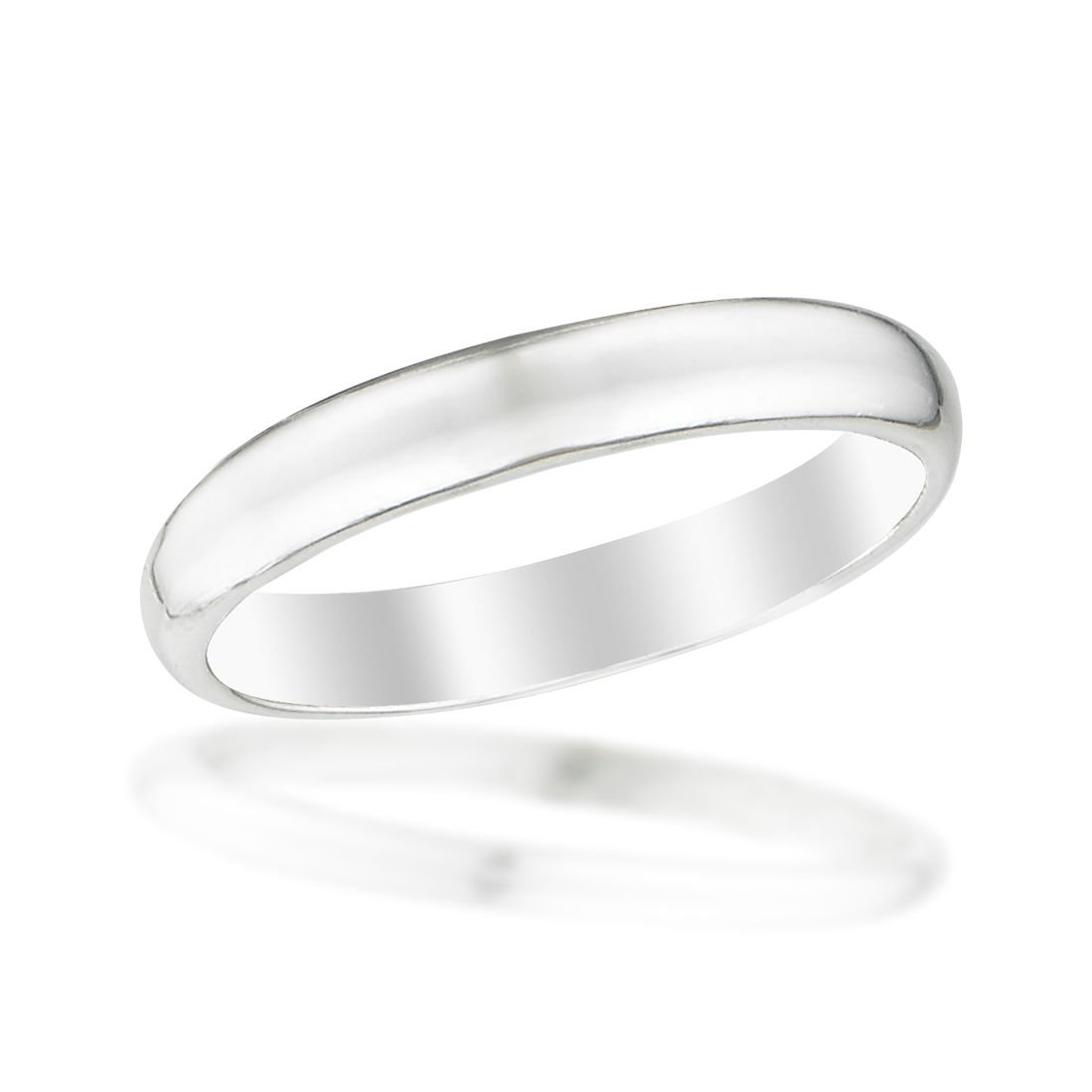 Beloved Child Goods Sterling Silver Baby Ring, 2mm domed band in a size 1 for 3-18 months, beautifully gift packaged by makes an Ideal Baby Shower, Baptism or Christening, New Baby or Christmas gift.