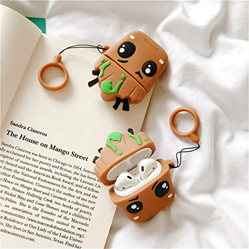 Tree Baby Mulafnxal Compatible with Airpods 1/&2 Case,Silicone 3D Cute Fun Cartoon Character Airpod Cover,Kawaii Plant Animal Funny Fashion Design Skin,Shockproof Cases for Teens Girls Boys Air pods