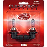 EiKO 9006CVSU2 9006 Clear Vision PRO Halogen Replacement Bulb, (Pack of 2)
