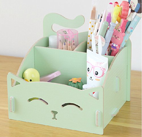 Exquiste Artwork Folding Collection Pen Organizer Desk Sorter Room Dec Green