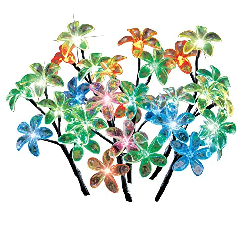 Color Changing Flower Garden Stakes - Set of 6