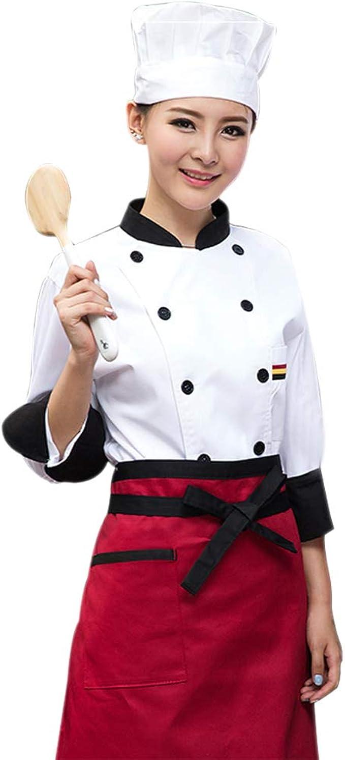 Kindoyo Divisa Da Cuoco A Maniche Lunghe Unisex Hotel Ristorante Cucina Chef Uniforme Amazon It Abbigliamento