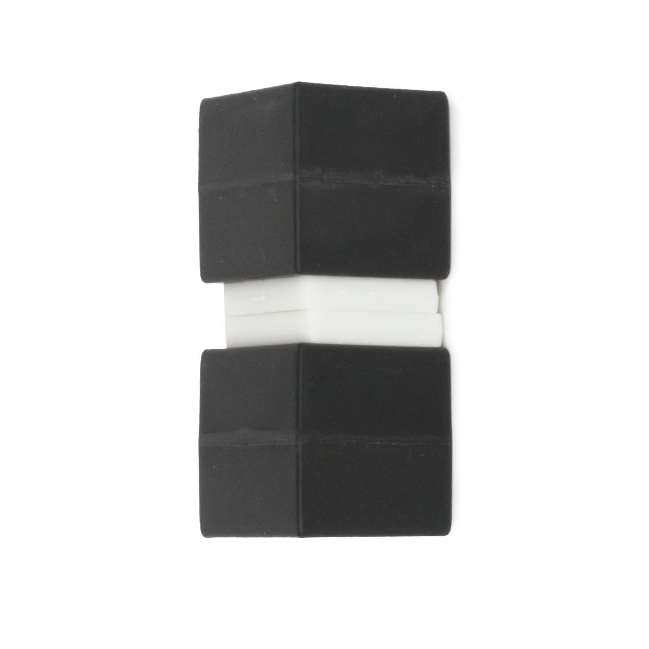 Unbreakable Plastic-Coated N52 Neodymium Cube Magnets, Waterproof, 1 x 1 x 1 inch. 2-Pack. Revitalizaire Strong Permanent NdFeB Rare Earth Magnets Coated with Hard Black Polypropylene by Revitalizaire (Image #6)