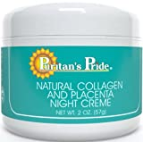 Puritan's Pride 2 Pack of Natural Collagen and Placenta Night Creme 2 oz-Cream For Sale