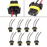 honda civic 1998 fog lights - PartsSquare 8pcs Universal 9005 9006 Adapter Wiring Harness Female Sockets Wire Headlights / Fog Light