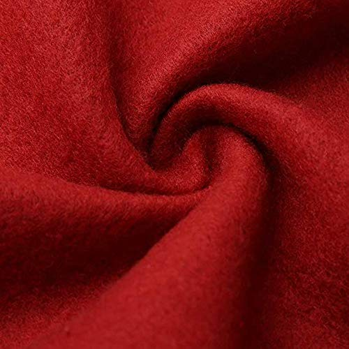 Npradla Mujer Para Liso Larga Abrigo Rojo Casual Cuello Alto Manga RwxRrq6C
