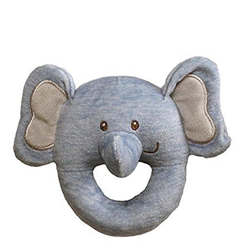 Baby GUND Playful Pals Elephant Stuffed Animal Plush Rattle Toy, 4.5