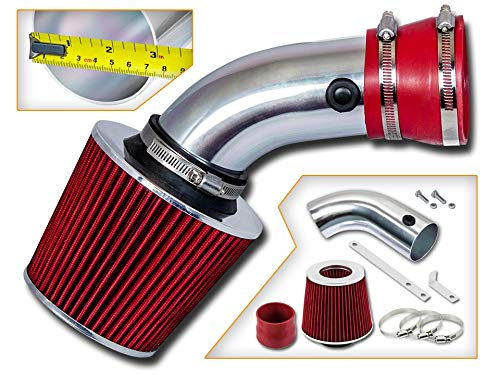 Rtunes Racing Short Ram Air Intake Kit + Filter Combo RED For 93-01 BMW E32 E38 740i / 740il / E34 E39 540i 4.0L/4.4L V8