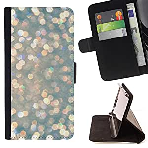 - Snow Diamonds Glitter Winter Sun - - Prima caja de la PU billetera de cuero con ranuras para tarjetas, efectivo desmontable correa para l Funny HouseFOR HTC One M7
