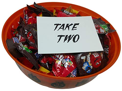 Halloween Candy Bowl Filled with Candy and