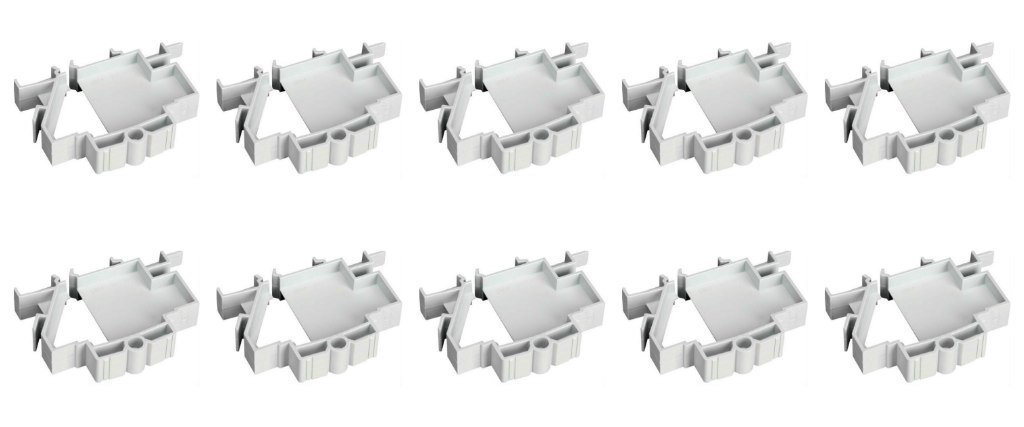 1 Module 1 Way 10 X Hager JK01B Blank Inserts for Hager Consumer Unit