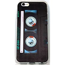 iPhone 7 Plus Case, YogaCase InTrends Silicone Back Protective Cover (Cassette Tape)