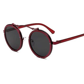 Wenkang Gafas de Sol Redondas de diseño para Mujer, Hombres ...