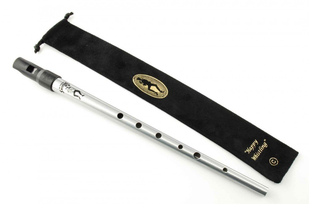 Clarke Sweetone Tinwhistle - Key of 'C' with Cloth Pouch (Silver)
