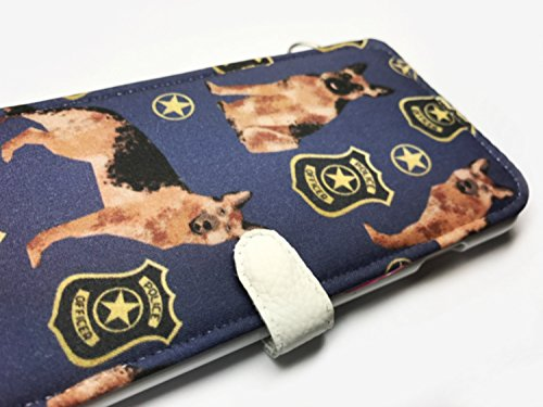 Galaxy S8 plus wallet case Galaxy S8 plus Case Galaxy S8 plus phone wallet german shepherd police badge