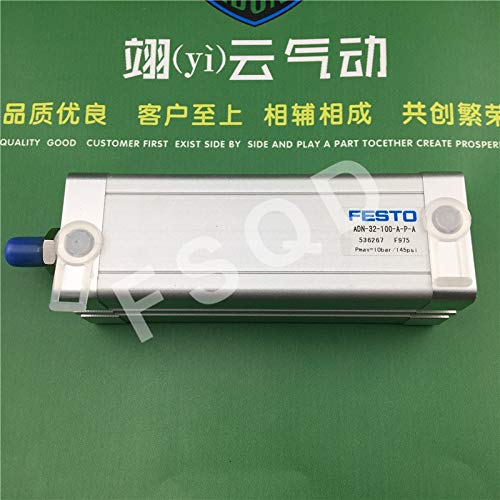 Fevas ADN-32-70-A-P-A ADN-32-80-A-P-A ADN-32-90-A-P-AADN-32-100-A-P-A Compact cylinders Pneumatic Components, ADN Series - (Color: ADN-32-90-A-P-A)