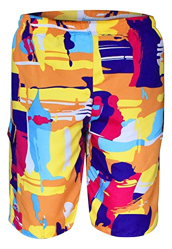 BABY-QQ Fashion Mens Beach Boardshorts Water Sports Casual Swimming Surfing Shorts XL Multi Color