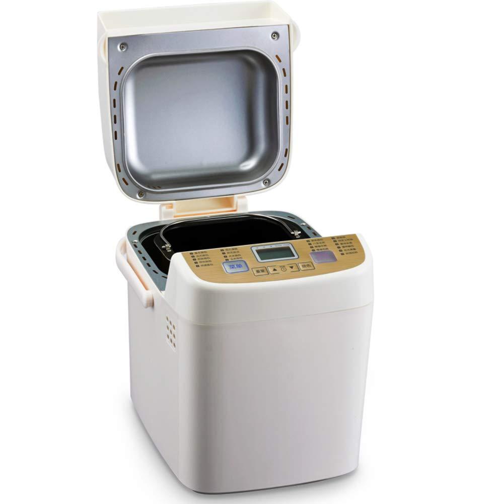 LJ-MBJ Ahorro de energía Automático Maquina para Hacer Pan, Ajuste Libre de Gluten Maquina de Pan, Plástico Máquina para Hornear Pan, Pan Yogur Mermelada ...